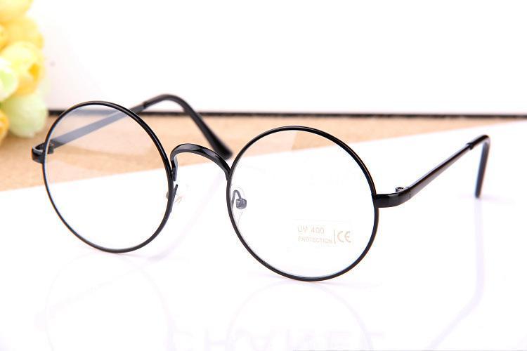 d0732b5259b Wholesale-Drop Shipping Retro Big Round Glasses Frame Myopia Lens ...