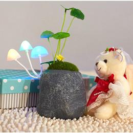 Wholesale Led Avatar Mushroom Light - Wholesale-Christmas Light Avatar Cartoon LED Sleep Light LED Table Lamp Mushroom Lamp Energy Saving Light Free Shipping & Dropshipping