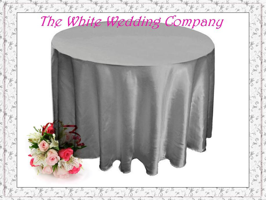 Wholesale 70u0027u0027 Round Satin Silver Tablecloths For Weddings Tablecloth Set Table  Cloth Round Tablecloths Wedding Table Linens Tablecloth Linens Banquet Table  ...