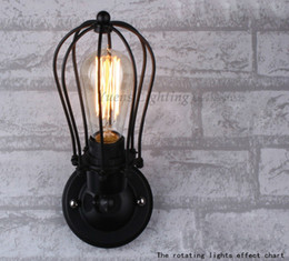 Wholesale Country Lamp Shades - Wholesale-Nordic Retro Wall Lamp WroughtIron Lamp Shade American Country Style Restaurant Bar Industrial Warehouse XDB-214 Free Shipping
