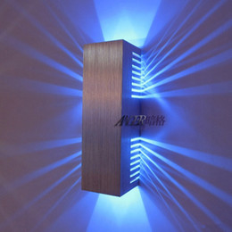 Wholesale Morden Living - Wholesale-Morden wall mounted led wall light Aluminum 2*1W bedside lamp For Living Room,Bedroom,home Decoration 2015 Hot ROHS CE