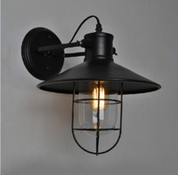 Wholesale Bedside Wall Lamp For Ship - Wholesale-Free shipping American Loft Industrial Wall Lamps Vintage RH Loft Bedside Wall Light Edison bulb Wall Lamp For Bar Cafe