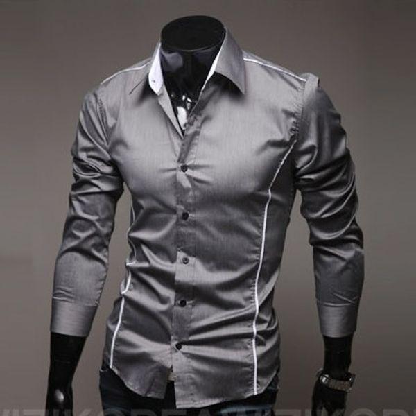 Toptan-Hızlı Kargo Marka Yeni stil Tasarım Erkek Gömlek OEM yüksek kaliteli Casual Şık Gömlek erkekler Boyutu: M ~ 4XL (büyük boy)