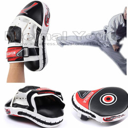 Wholesale Boxing Punching Mitts - Wholesale-Muay Thai Boxing Glove Pads Liner Kick Boxing Training Punch Pad Mitt Hand Target Focus