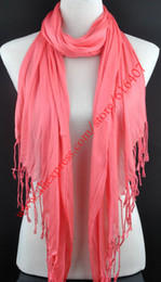 Wholesale Triangle Shaped Scarves - Wholesale-NEW Triangle shaped shawl, tassel scarf, Pendant Scarf Cotton Fantasy yarns DIY Blank Scarves 27 colors available, Free Shipping