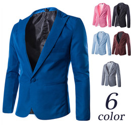Wholesale Mens Model Korean - Wholesale-Korean explosion models suit a small buckle multicolor dress mens suits men suit jacket blazers X911