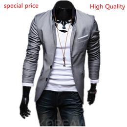 Wholesale Patch Suit Design - Wholesale- Top Patch pocket design Suit Jacket For Men Terno Masculino Suit Blazers Jacket Traje Hombre Men's Casual Blazer Size