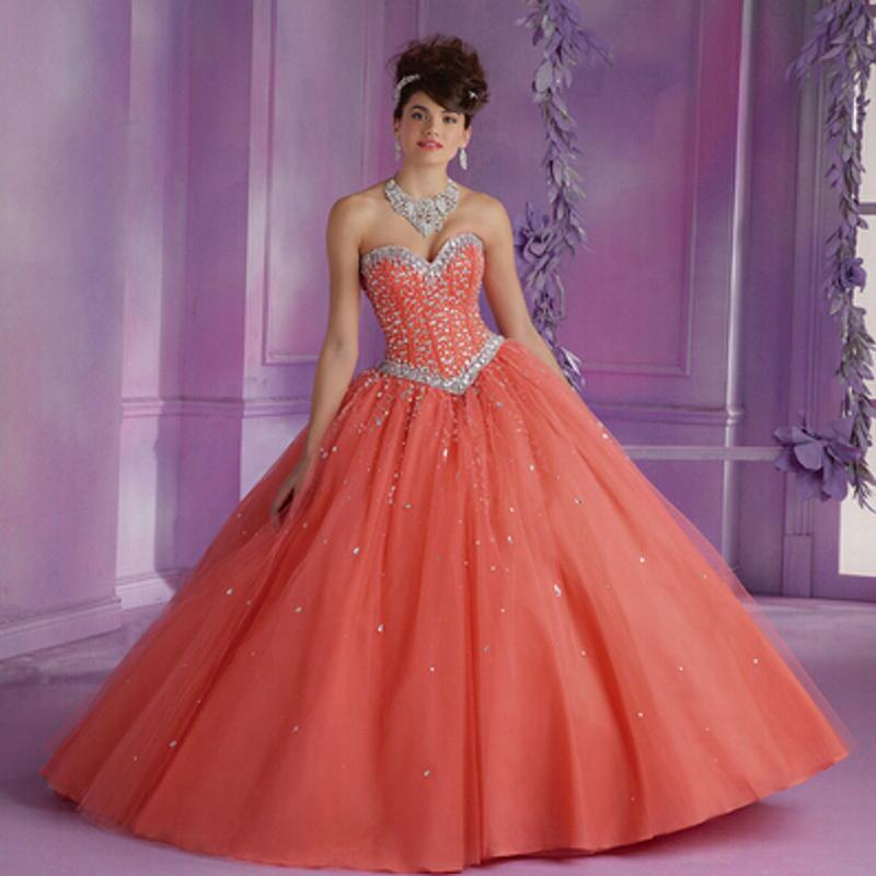 19e6c35064f Wholesale-2015 New Pink Quinceanera Dresses Ball Gowns Sweetheart Beading  Lace Up Sweet 16 Dresses Vestidos De 15 Anos ...