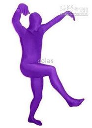 Wholesale Spandex Unitard Men - Wholesale-Details about Purple Lycra spandex catsuit Unitard Leotard zentai costume unisex
