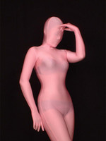 Wholesale Transparent Zentai Suit - Wholesale-BetterParty Lycra Spandex Pink Unicolor Unisex Transparent Zentai Suit