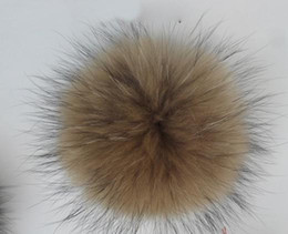 Wholesale-With good gifts handmade fur ball Real raccoon fur ball big size diameter of 10cm fur pompoms for shoes,jewelry,cloth