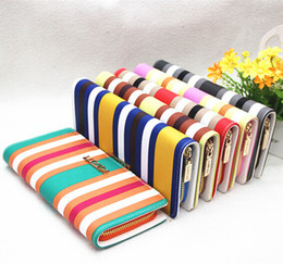 Wholesale England Style Women - Wholesale-2015 new arrival fashion England style rainbow colors coin purse wallet women bag WLHB1048