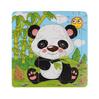 Wholesale Learning Jigsaw Puzzle Wholesale - Wholesale-Sanwony New 12 Styles Wooden Kids Jigsaw Puzzles Toys With Animals Pattern For Children Education And Learning
