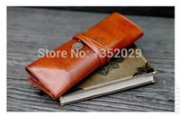 Wholesale Twilight Retro Pen Bag - Wholesale-Twilight New Moon retro roll leather pen pencil cases .PU makeup cosmetic bag, free postage