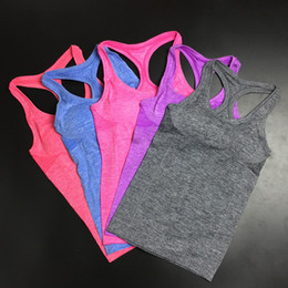 Wholesale Order Tank Tops - Wholesale-Fashion Yoga Shirts Women's Running Breathable Gym Fitness Vest Tanks Ladies Sports Tank Tops Women Quick Dry