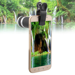 Мобильный телескоп онлайн-Wholesale-Freeship 8x Zoom Optical Lens with Clip Mobile Phone Telescope Camera Lens for  6 5 5S 4 4S NOTE 2 3 glaxy s3 s4 CL-83-1