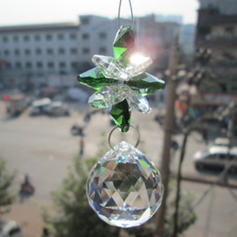 Wholesale Prism Crystal Suncatcher - Wholesale-Garland Chakra Spectra 1 Suncatcher 1 Suncatcher Glass Crystal Pendulum Lamp Prisms Parts Feng Shui Pendants 30mm A M02265-1