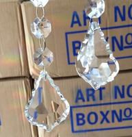 Wholesale Wholesale Chandelier Prisms - Wholesale-15pcs 50mm Fuchsia Color Crystal Diamond Hanging Prism Ball Suncatchers Maple Leaf Shape Crystal Drop For Chandelier