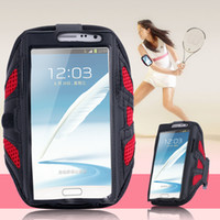 Gros-Workout Case Gym pour Samsung Galaxy S6 / S6 bord S3 S4 S5 i9500 i9600 Nylon Mesh respirant Courir équitation Sport Arm Band