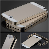 Wholesale Galaxy Note2 Aluminum Case - Wholesale-Note 2 Aluminum Metal Frame & PC Brush Back Cover Mobile Phone Case For Samsung Galaxy Note 2 II N7100 Cover Case Note2