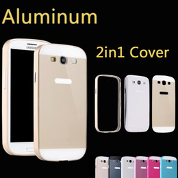 Wholesale Thin Metal Galaxy S3 - Wholesale-Ultrathin Aviation No Screws 0.86mm Frame Cover Ultra Thin Metal Luxury Aluminum Bumper Case For Samsung Galaxy S3 i9300