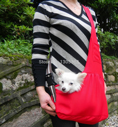 Wholesale Cpam Carrier - Wholesale-New Red Canvas Pet Sling Dog Cat Carrier Bag Free Shipping by CPAM Bag for dog