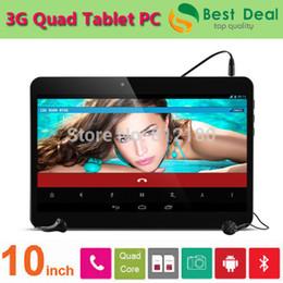 Wholesale 32gb Tablets Sale - Wholesale-2015 Hot Sale Cheap 10 inch Tablet PC Quad Core MTK6582 3G Phone Call Tablet 2GB RAM GPS Bluetooth 2 SIM Card (16GB 32GB ROM)