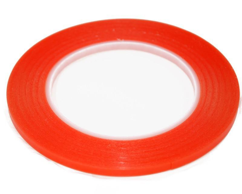 Wholesale-red color 3mm Double Side Adhesive 3M Sticker Tape Fix For Cellphone Touch Screen LCD