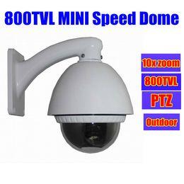 Wholesale Hd Outdoor Security Cameras Ptz - 800TVL HD cctv MINI Speed Dome PTZ Security camera Outdoor 10X ZOOM video surveillance 800tvl Camera
