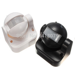 Wholesale Infrared Meter - Wholesale-220-240V 50Hz 180 Degree Outdoor Security PIR Infrared Motion Sensor Detector Movement Switch Two color 12 Meter