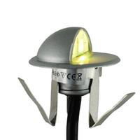 lâmpadas de chão do pátio venda por atacado-Atacado-14pcs / lot 12V 0.6W LED Lâmpada de assoalho Recesso etapa luz de parede IP65 Inground chão subterrâneo pátio iluminação para exterior