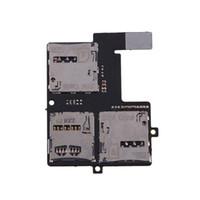 flexkarte großhandel-Großhandels-Sim + Micro SD Card Slot Tray SD-Kartenhalter-Reader-Flexkabel für HTC Desire 600 E # CH