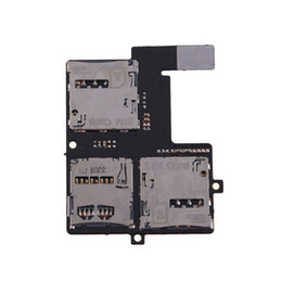 China Wholesale-Sim + Micro SD Card Slot Tray SD Card Holder Reader Flex Cable For HTC Desire 600 E#CH cheap micro sim sd card holder suppliers