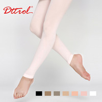 Wholesale Crotch Girl Sexy - Wholesale-Dttrol New Free Sexy tights Shipping Children's Footless Dance Ballet tights with waist and crotch (D004821)