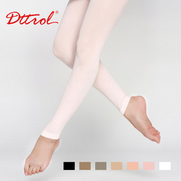 Wholesale Girls Nylon Leggings - Wholesale-Dttrol New Free Sexy tights Shipping Children's Footless Dance Ballet tights with waist and crotch (D004821)