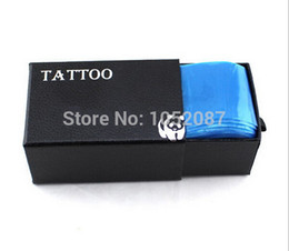 Wholesale Disposable Tattoo Sleeves - Wholesale-2015 NEW Safety Disposable Hygiene 100pcs Plastic Blue Tattoo clip cord Sleeve Cover Bag Supply Free Shipping