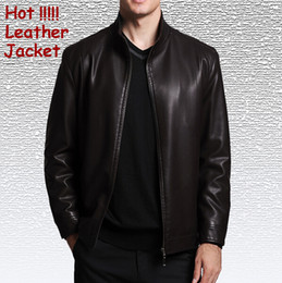 Wholesale Septwolves Free Shipping - Fall-SEPTWOLVES New 2015 Autumn and Winter Casual Jacket Men Second Layer Leather Jacket Man Jackets Free Shipping