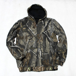 Wholesale Realtree Camo Clothes - Fall-NEW Bionic Realtree Camouflage Hunting Jacket for Men Outdoor Camo Clothes