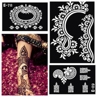 Wholesale-Henna Tattoo Schablone Lot Körperbemalung, Mehndi Indian Henna Flitter Gold Tatoo große Schablone Schablonen für Anstrich Kit