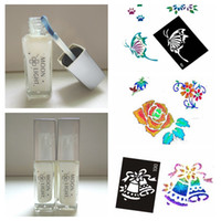 All'ingrosso-Nuovo 1 pezzo di colore bianco tatuaggio di colla glitter gel per Body Painting temporanea Tatoo Glue Kit bottiglia da 10 ml Marca MOON LIGHT