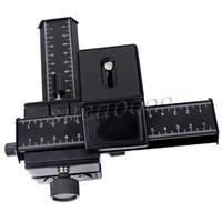 ingrosso macro di dslr-All'ingrosso-Professionale Macro Focusing Rail Slider 4-Way D-SLR DC per Nikon Canon Petax SLR DSLR DC Camera