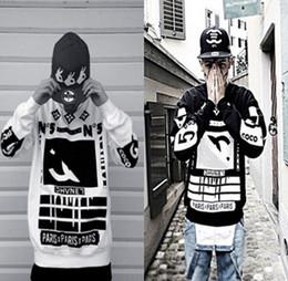 Wholesale Coco Letter - Wholesale-Hot Sale Cotton Loose Fack COCO 5 Harajuku Letter Sweatshirt Long Sleeve Hip Hop Streetwear Sweatshirt XXL