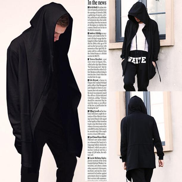 56d40bffcf 2019 Wholesale New Fashion Mens Hip Hop Swag Sweatshirt Hoodies Chandal  Hombre Jakcet Gothic Wizards Clothes Plus Size Cape Coat Man SMC0042 5 From  Blairi