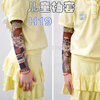 Wholesale Tattoo Nylon Leggings - Wholesale-2015 Free Shipping, Good Quality Kid's New Children Carton Tattoo Sleeves,500pcs Mix color Wholesale, Boy and girl's Arm