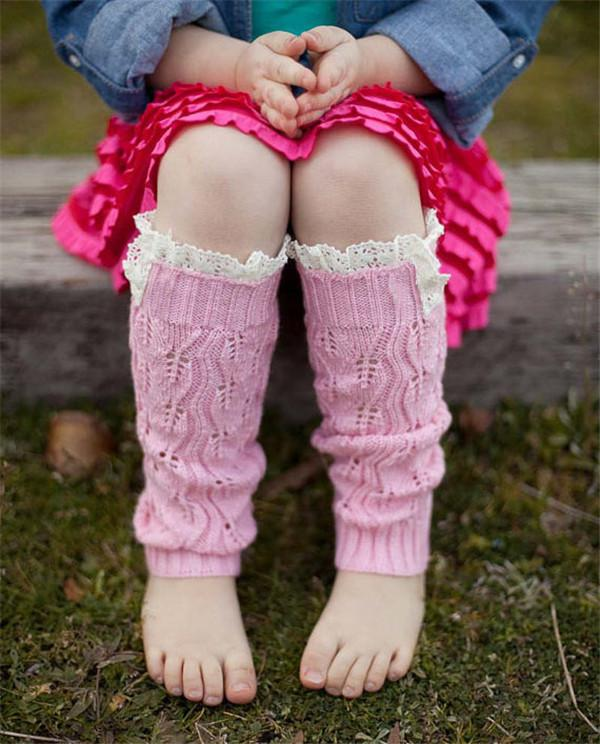 Großhandel Großhandels Kind Kleine Mädchen Strickende Stulpen