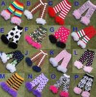 Wholesale Lace Ruffle Leggings For Girls - Wholesale-wholesale fluffies chiffon ruffle football lace leg warmers for baby girls Zebra kids and baby ruffled leggings 16 colors