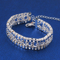 Wholesale Great Stamps - Wholesale-wholesale 925 silver bracelet cheap stamped 925 sterling silver bracelet bangle for women factory price great gift oem welcome