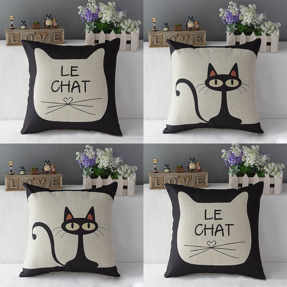 wholesale cute cat print 17 39 39 cotton - The Modern Rules Of Wholesale Throw Pillows
