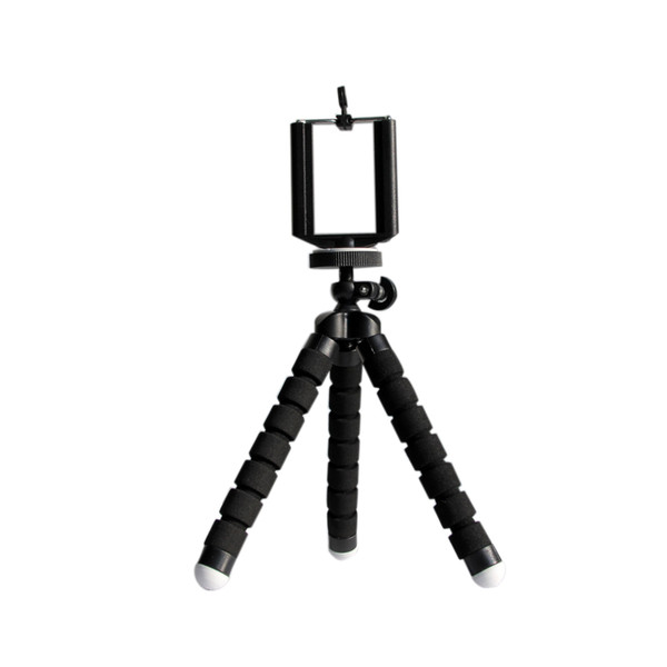 Wholesale-New Portable Mini Flexible Octopus Tripod Holder Stand Mobile Phone Holder With Bracket For Digital Camera For I Phone Sumsung