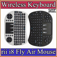 Wholesale Mouse For Ipad - 10X 2016 Wireless Keyboard rii i8 keyboards Fly Air Mouse Multi-Media Remote Control Touchpad Handheld for TV BOX Android Mini PC 11-JP